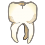 a clipart graphic of a tooth